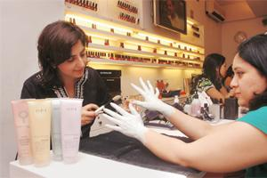 "The new and improved ""Finger Facial"" at Nail Bar."