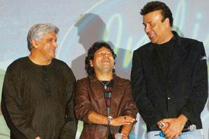 Better days: (L-R) Javed Akhtar, Kailash Kher and Anu Malik at the launch of Indian Idol 4, a show produced by Miditech Pvt. Ltd. Prodip Guha / HT