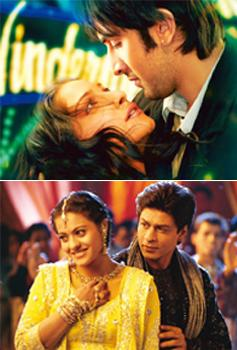 Light my fire: Saawariya (top) lost out to Om Shanti Om in 2007; Kabhi Khushi Kabhie Gham, a blockbuster of 2001.