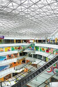 Stop and stair: Mega Mall raises the bar.