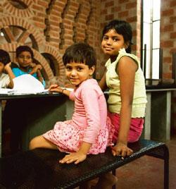 The future is here: The children have full-time teachers to help with their studies. Harikrishna Katragadda /Mint