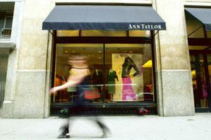 Global slowdown: An Ann Taylor Retail Inc. store in New York. Among US stores, the retail chain store is closing 117 outlets. Gino Domenico / Bloomberg