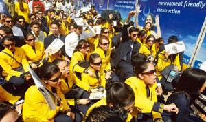 Yellow card: Why did these flight attendants from Jet Airways get our sympathy vote? Santosh Hirlekar / PTI