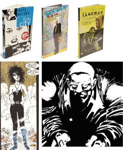 The contenders: (left) Sandman is high fantasy literature; (above) few noir books or movies can match Miller's classic, Sin City.
