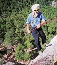 On a high: At Flat Irons, Colorado, 2004. Mandip Singh Soin