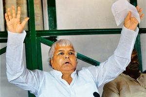 Up in arms: RJD chief and Union railway minister Lalu Prasad. PTI