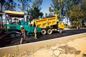 Construction hurdles: A file photo of construction work on NH58. At least five projects of the National Highway Development Programme have to achieve financial closure in the next two months. Rajeev D