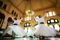Inspired: The whirling dervishes of Turkey are Rumi's followers. AFP