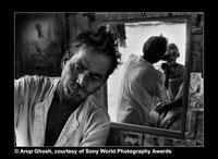 Arup Ghosh's image of a barber at work in West Bengal won the top honours in the amateur category at the Sony World Photography Awards 2008.