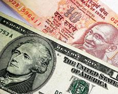 Weighed down: The rupee weakened 1.5% to?48.12 per dollar on Tuesday. StockXpert