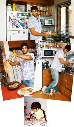 Chef's hat: Kohli borrowed his recipes from his mother and wife; (above) 18-month-old Kohli enjoying Tasty Tasty Noodles. Ritam Banerjee / Mint