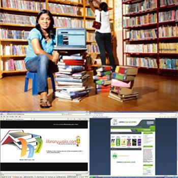 Surf and book: Mahesh's Easylib (top) lets users borrow books online or drop in for an old-fashioned browse; Librarywala and BookMeABook function only online. Hemant Mishra / Mint