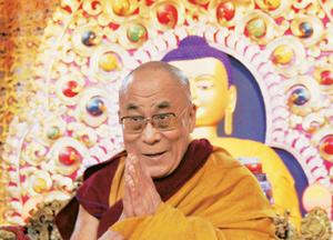 Temporal leader: The Dalai Lama has served as the political and religious leader of Tibetans for so long that both his roles are indistinguishable. Shailesh Bhatnagar / Reuters