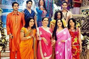 Opera queen: A scene from TV soap Kyunki Saas Bhi Kabhi Bahu Thi. A mega three-hour rerun of the show was broadcast on Friday. HT (A scene from TV soap Kyunki Saas Bhi Kabhi Bahu Thi. A mega three-hour rerun of the show was broadcast on Friday. HT)
