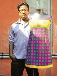 Colour crazy: Soumitra Mondal wanted khadi to look everything but dull and grey. Indranil Bhoumik / Mint