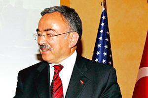 Energy collaboration: A file photo of Turkish energy minister Hi lmi Guler. The trilateral meeting is likely to be held in Turkey, he said. Burhan Ozbilici / AP