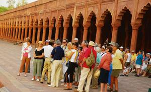 Close look: Tourism is said to contribute about 6% to India's GDP. Ramesh Pathania / Mint