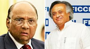 Seeking cooperation: In a letter to agriculture minister Sharad Pawar (left), minister of state for commerce and power Jairam Ramesh has said a year-old programme for large-scale replantation and reju