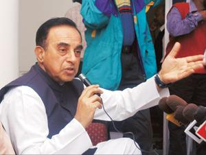 Celebrity crusader: Janata Party president Subramanian Swamy has appeared as petitioner-in-person for many cases, including the one challenging the Union government's Sethusamudram ship canal project.