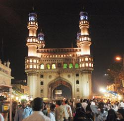 A file photo of Hyderabad's Charminar during Ramadan.  P Anil Kumar / Mint