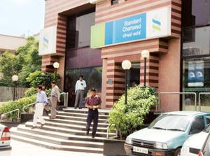 Growing network: A Standard Chartered Bank branch in New Delhi. Madhu Kapparath / Mint