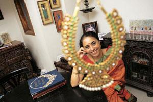 The last word: Balakrishnan takes interest in jewellery from south India, like this Manga Mala (in the foreground) that she owns. Abhijit Bhatlekar/ Mint