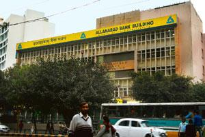 Spreading out: An Allahabad Bank building in New Delhi. India's banks have in recent years set up branches abroad in an attempt to win customers among non-resident Indians and local companies venturi