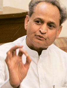 Staying positive:Gehlot says there has been no proper governance in Rajasthan in the last five years due to squabbles within the ruling BJP. Himanshu Vyas / HT