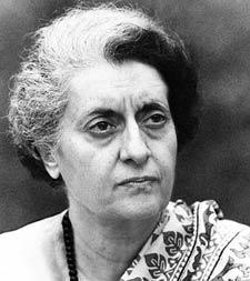 Stumped: Indira Gandhi's gamble backfired. AFP