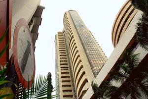 Slight gain: The Bombay Stock Exchange building. On Monday, the Sensex closed at 9,162.62, up 197 points. Ashesh Shah / Mint