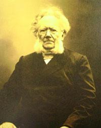 The playwright Henrik Ibsen
