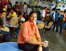Lateral thinking: Deepti Pillai heads the student council at NMIMS. Abhijit Bhatlekar / Mint