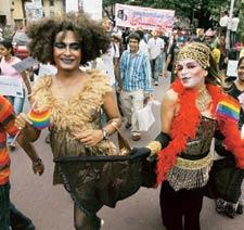 Rainbow nation: A gay rights march in Mumbai earlier this year. Rajanish Kakade / AP