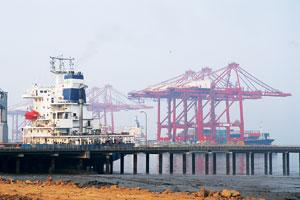 Need incentives: The Jawaharlal Nehru Port in Mumbai. Shipping firms need to replace some or all of their ageing fleets and expand capacity to tap into the boom in global trade, but their efforts have