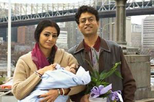 Taking a cue: Actors Tabu and Irrfan Khan in The Namesake, a movie based on a book by Jhumpa Lahiri by the same name.