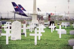 Grave reality: Saint Johannes Cemetery in Bensenville, Illinois. Many people in America are giving in to financial pressures by selling their burial plots using the Internet, newspaper classifieds or