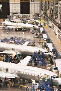 Bulk order: A file photo of Boeing's assembly line / Bloomberg
