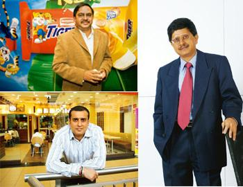 Driving growth: (clockwise from top left) Neeraj Chandra, VP, sales, marketing and innovation, Britannia [Madhu Kapparath / Mint]; Milind Sarwate, chief, HR and strategy, Marico; and Amit Burman, vice