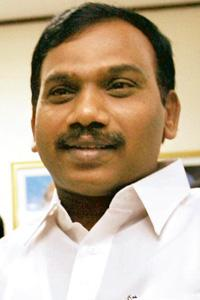 Approval awaited: Communications minister A. Raja. On Monday, DoT had said it was postponing the bids, but had not set a new date. Manpreet Romana / AFP