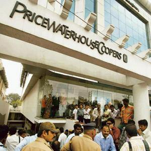Troubled house: The PricewaterhouseCoopers office in Hyderabad. PTI