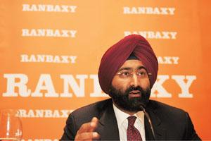 Explaining losses: A file photo of Malvinder Singh of Ranbaxy. He attributed the unprecedented forex volatility following unforeseen global financial crisis and almost 25% dollar-rupee movement for th