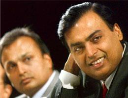 At odds: A file photo of Anil Ambani (left) and Mukesh Ambani, who have been in a tussle over the Krishna-Godavari basin gas reserves. Arko Datta / Reuters