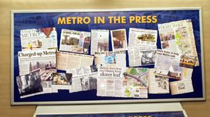 Some of the displays chart the history of the Metro in interesting ways. Ramesh Pathania / Mint