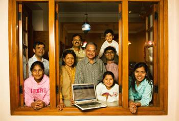 Opening a window: The Gargs named their family blog after their ancestral home in New Delhi. Harikrishna Katragadda / Mint