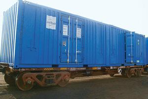 Customized rake: Arshiya's containers for Vedanta can load cargo from the top, raising effeciency by at least three times of a side-loading one.