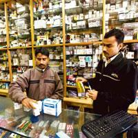 Step forward: Private-label selling is controversial as it allows pharmacy chains to substitute branded prescription drugs by retail stores. Rajeev Dabral / Mint