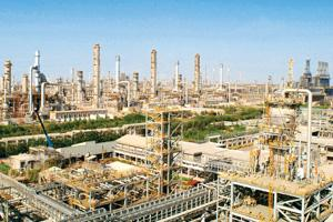 Export benefit: Reliance Industries refinery at Jamnagar. Private refiners such as RIL could see higher profits.
