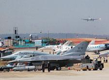 Clear skies: Fighter planes at Aero India 2009, Asia's premier air show, at Air Force station Yelahanka, Bangalore. Demand for Indian aerospace products and services by 2012 is estimated to be at leas
