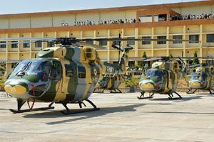 Dhruv, the advanced light helicopter built by HAL. Hemant Mishra / Mint