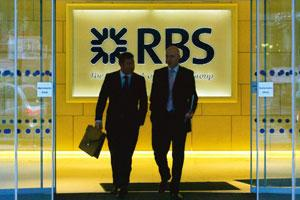 Risky partnerships: The London headquarters of the Royal Bank of Scotland. Overseas lenders including the Royal Bank of Scotland may have around A$2 billion on the line, according to a UBS study. Carl